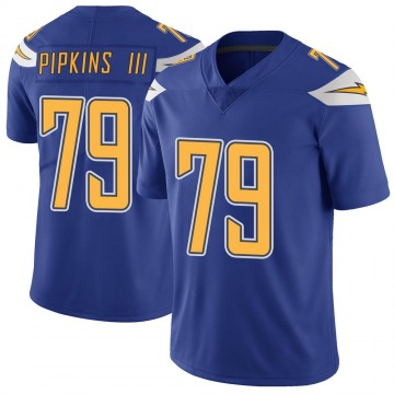 Youth Nike Los Angeles Chargers Trey Pipkins Royal Color Rush Vapor Untouchable Jersey - Limited
