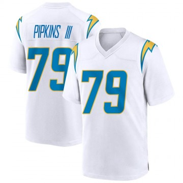 Youth Nike Los Angeles Chargers Trey Pipkins White Jersey - Game