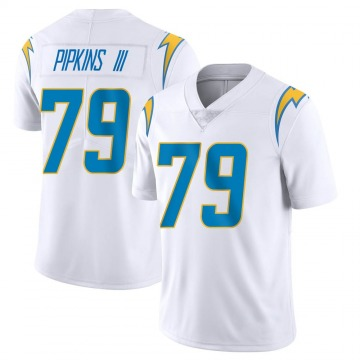 Youth Nike Los Angeles Chargers Trey Pipkins White Vapor Untouchable Jersey - Limited