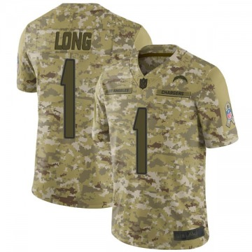 Youth Nike Los Angeles Chargers Ty Long Camo 2018 Salute to Service Jersey - Limited