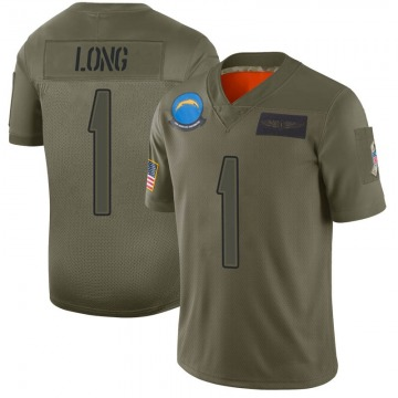 Youth Nike Los Angeles Chargers Ty Long Camo 2019 Salute to Service Jersey - Limited