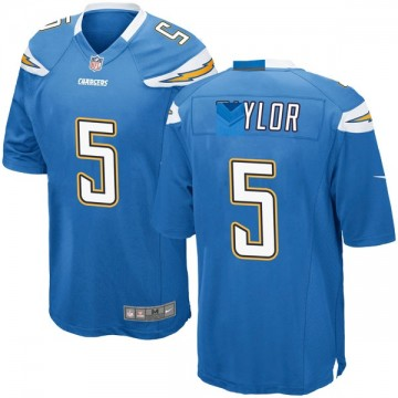 Youth Nike Los Angeles Chargers Tyrod Taylor Blue Powder Alternate Jersey - Game
