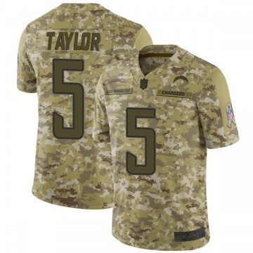 Youth Nike Los Angeles Chargers Tyrod Taylor Camo 2018 Salute to Service Jersey - Limited