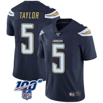 Youth Nike Los Angeles Chargers Tyrod Taylor Navy 100th Vapor Jersey - Limited