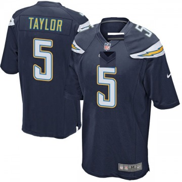 Youth Nike Los Angeles Chargers Tyrod Taylor Navy Team Color Jersey - Game