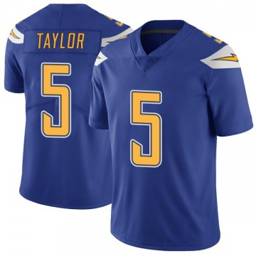 Youth Nike Los Angeles Chargers Tyrod Taylor Royal Color Rush Vapor Untouchable Jersey - Limited