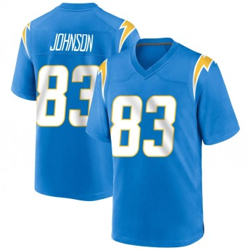 Youth Nike Los Angeles Chargers Tyron Johnson Blue Powder Alternate Jersey - Game