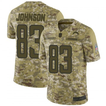 Youth Nike Los Angeles Chargers Tyron Johnson Camo 2018 Salute to Service Jersey - Limited