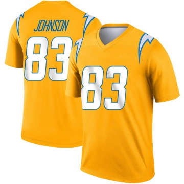 Youth Nike Los Angeles Chargers Tyron Johnson Gold Inverted Jersey - Legend