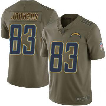 Youth Nike Los Angeles Chargers Tyron Johnson Green 2017 Salute to Service Jersey - Limited