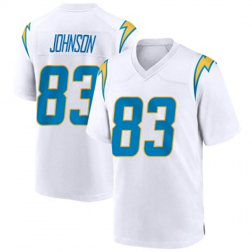 Youth Nike Los Angeles Chargers Tyron Johnson White Jersey - Game