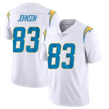 Youth Nike Los Angeles Chargers Tyron Johnson White Vapor Untouchable Jersey - Limited