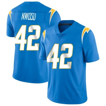 Youth Nike Los Angeles Chargers Uchenna Nwosu Blue Powder Vapor Untouchable Alternate Jersey - Limited