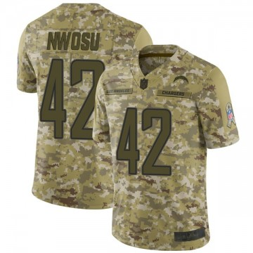 Youth Nike Los Angeles Chargers Uchenna Nwosu Camo 2018 Salute to Service Jersey - Limited