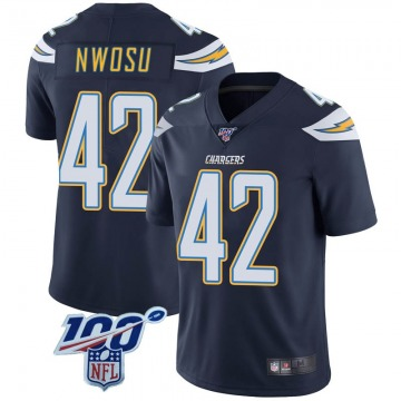Youth Nike Los Angeles Chargers Uchenna Nwosu Navy 100th Vapor Jersey - Limited