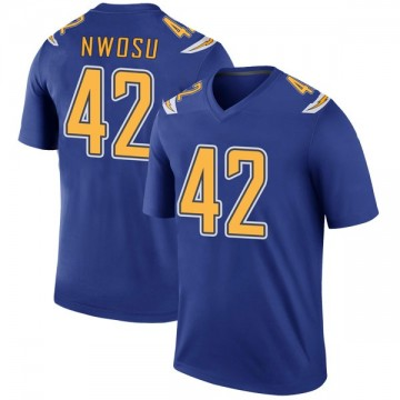 Youth Nike Los Angeles Chargers Uchenna Nwosu Royal Color Rush Jersey - Legend