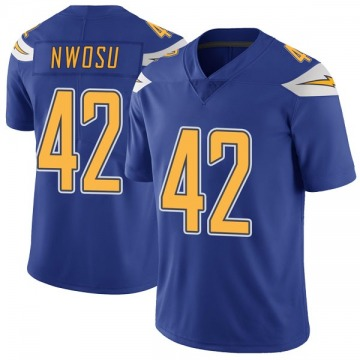 Youth Nike Los Angeles Chargers Uchenna Nwosu Royal Color Rush Vapor Untouchable Jersey - Limited