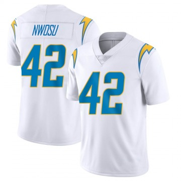 Youth Nike Los Angeles Chargers Uchenna Nwosu White Vapor Untouchable Jersey - Limited