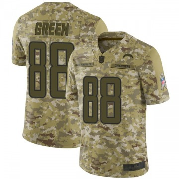 Youth Nike Los Angeles Chargers Virgil Green Green Camo 2018 Salute to Service Jersey - Limited