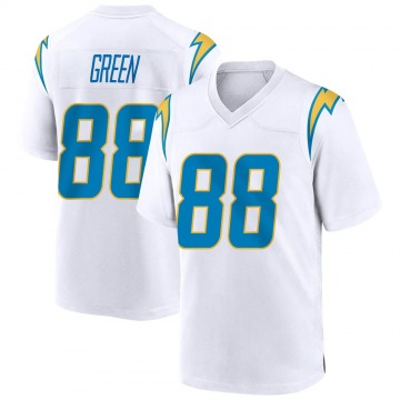 Youth Nike Los Angeles Chargers Virgil Green White Jersey - Game